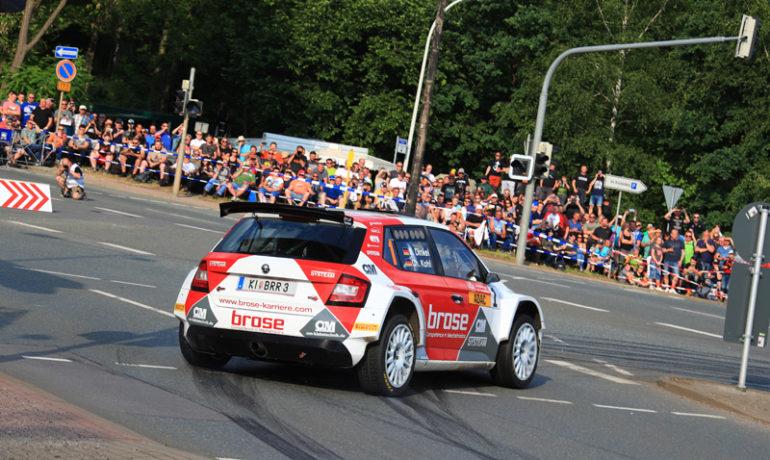 Das Brose Rallye Team hat in Sachsen die DRM-Führung ausgebaut