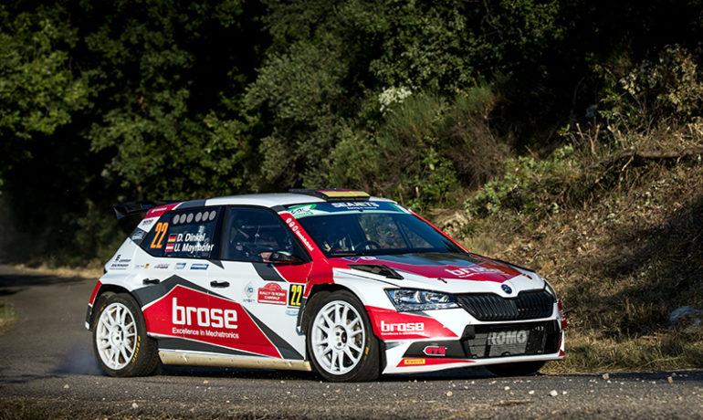 Grundsolider Auftritt von Dominik Dinkel bei der Rallye Rom