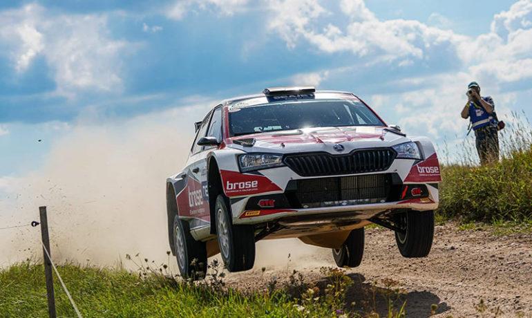 Dominik Dinkel sammelt bei der Rally Liepāja neue Erfahrungen
